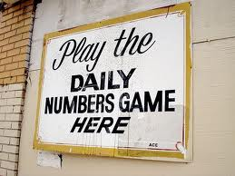 Numbers Game Sign