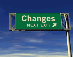 Changes Next Exit sign