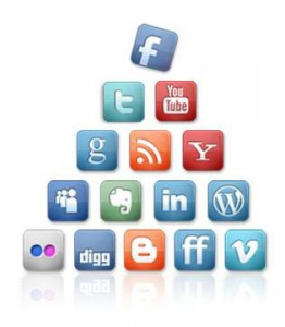 pyramid of social media icons