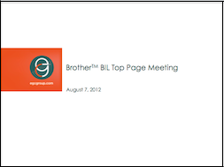 Brother International New Homepage Template presentation (Thumbnail)