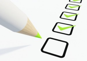 pencil checking off check list with 5 steps
