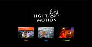 The old homepage of light and motion
