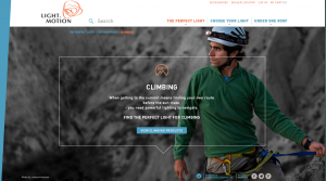 Climbing activity page